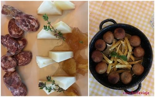 Jamón,queso y croquetas de venado