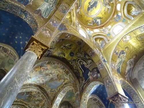 interior iglesia de la Martorana