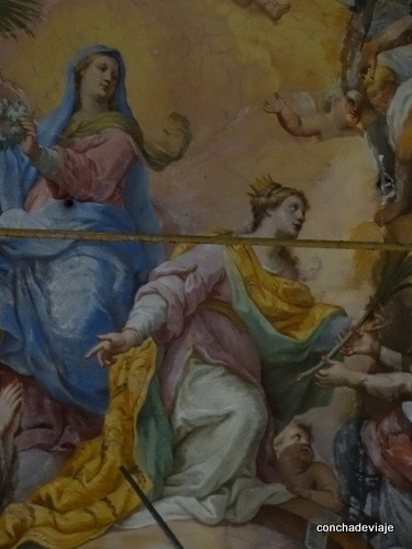 frescos iglesia de Santa Cate