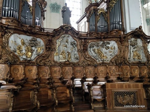 silleria Catedral de San Galo