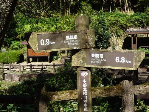 Señales ruta Nakasendo