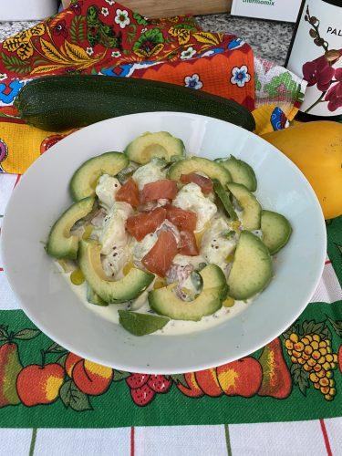 Recetas que tienes que probar, ensalada de patata, aguacate y salmón