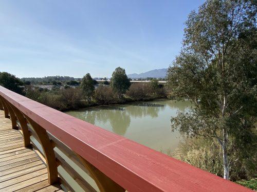 Puente de madera, desembocadura del Guadalhorce
